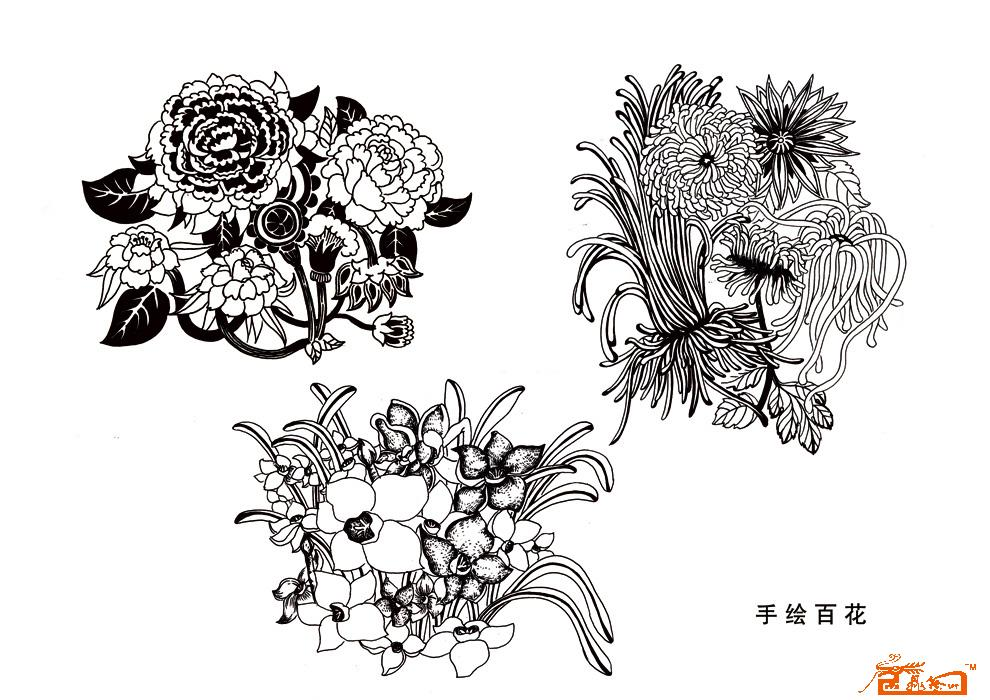 动物物黑白装饰画